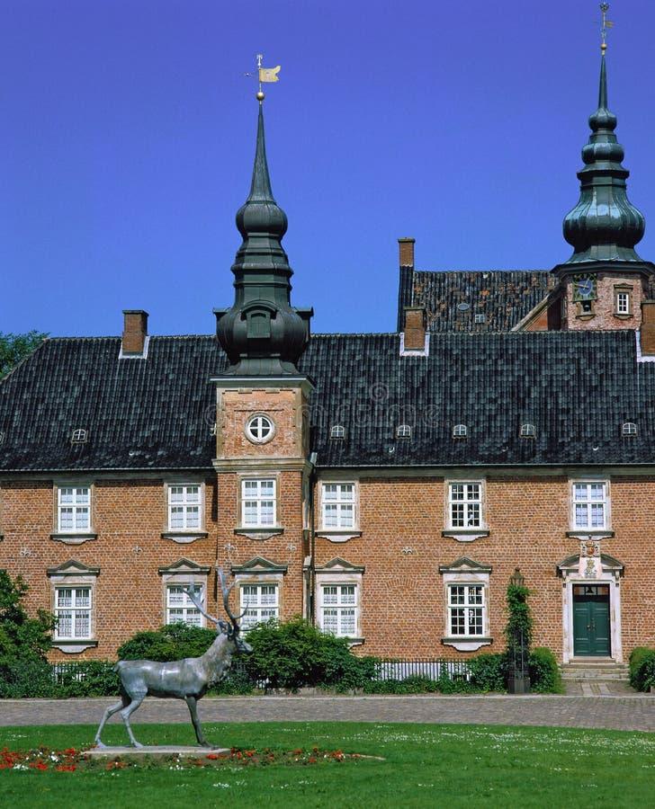 Jaegerspris-Schloss, Dänemark lizenzfreie stockfotografie