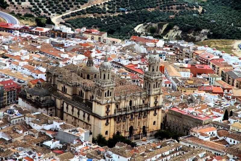 Jaen citry et cathédrale Andalousie Espagne photo stock