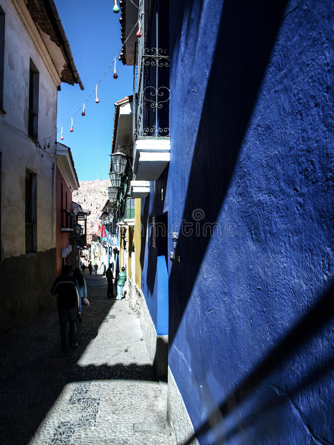 Jaen gata i La Paz royaltyfri fotografi