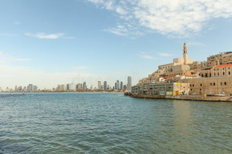 Jaffa με το Τελ Αβίβ στο υπόβαθρο στοκ φωτογραφίες με δικαίωμα ελεύθερης χρήσης