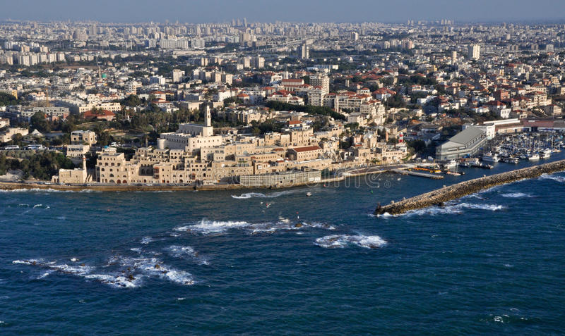 Jaffa. This image of an aerial photograph taken Jaffa royalty free stock images
