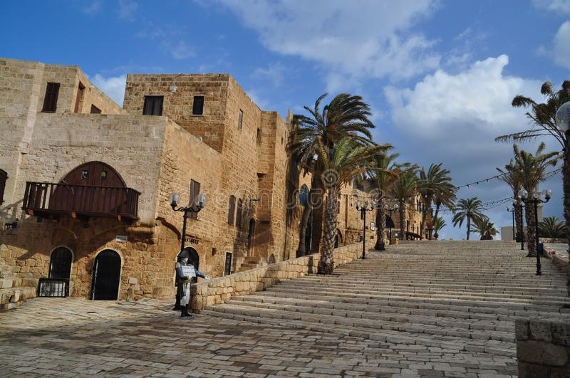 Jaffa. The centre of old city of Jaffa, Israel stock photography