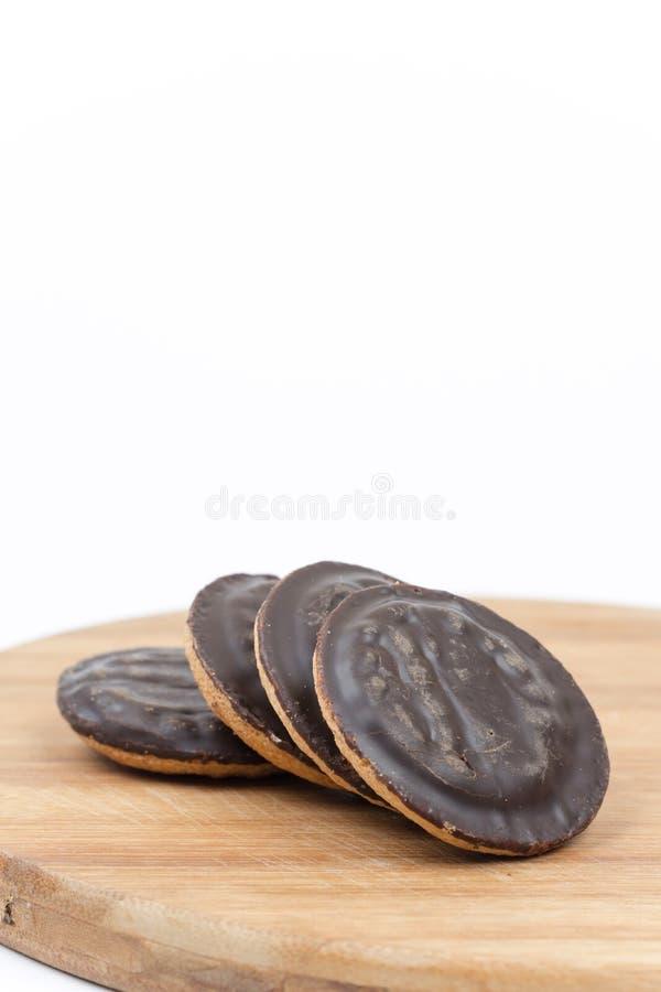 Jaffa apelmaza la naranja del chocolate de las galletas aislada sobre blanco fotos de archivo libres de regalías