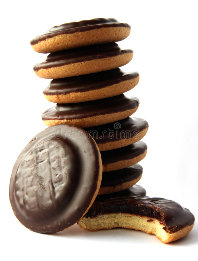 Free Jaffa Cakes - Traditional Sweet Cookies Stock Images - 7895694