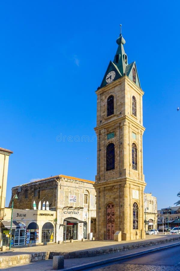 Jaffa clock tower, now part of Tel-Aviv-Yafo stock photos