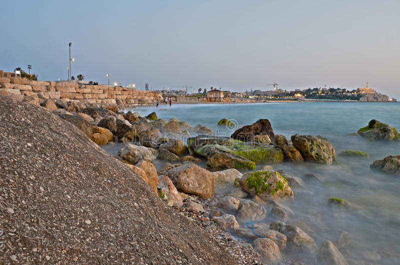 Download Jaffa coast line stock photo. Image of port, exposure - 24941510