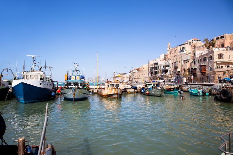 Jaffa gammal port. Tel Aviv Israel royaltyfri fotografi