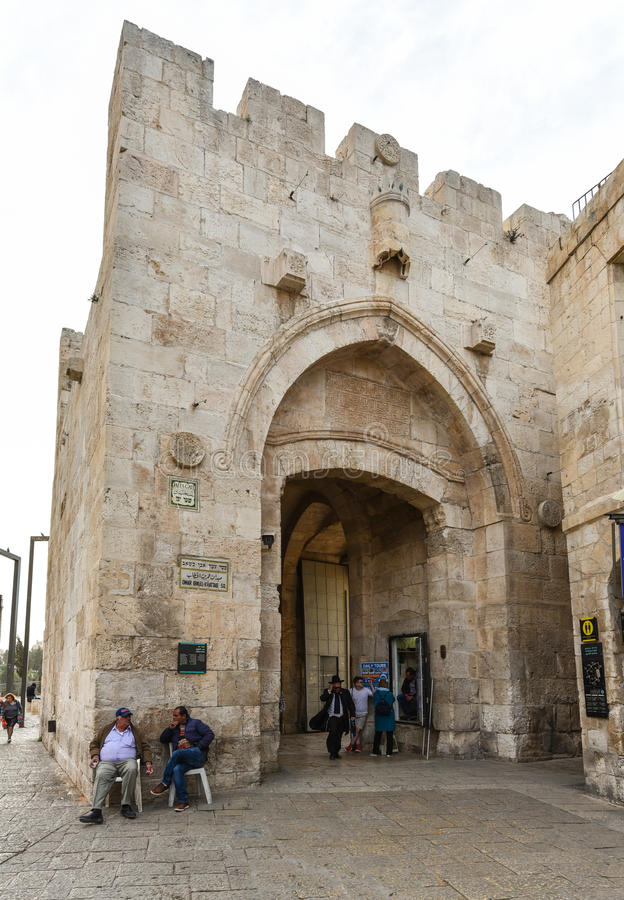 Jaffa gate Jerusalem Israel royalty free stock photography
