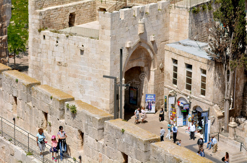 Jaffa Gate in the Old City of Jerusalem - Israel stock photo