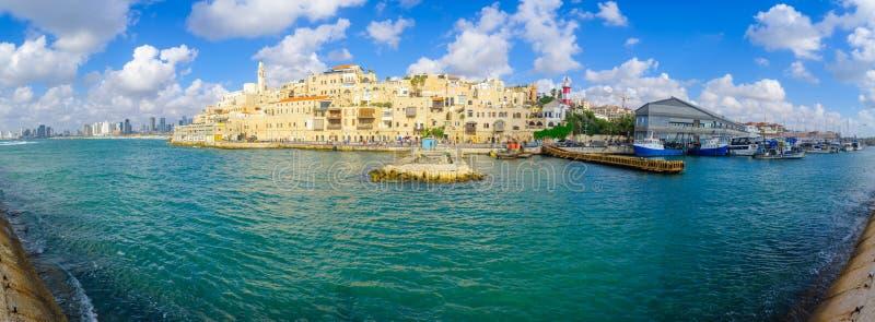 Jaffa-Hafen und der alten Stadt von Jaffa lizenzfreie stockfotos