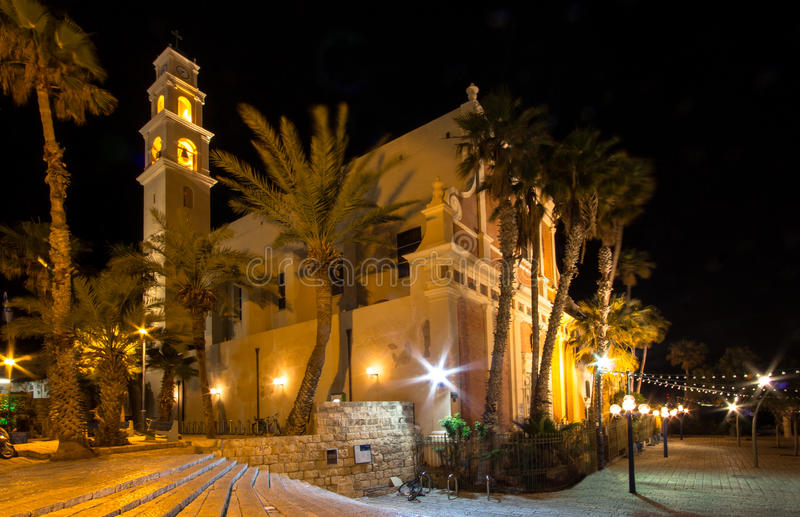 Jaffa, Israel. Old city Jaffa in the night, Israel royalty free stock photography