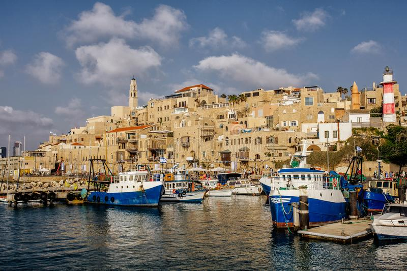 Jaffa in the light of the evening sun. Jaffa is an old city of Tel Aviv, Israel royalty free stock photography
