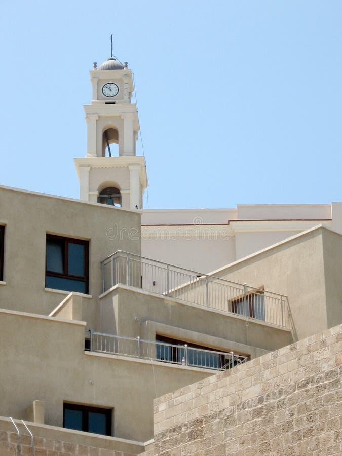 Jaffa nya hem och forntida torn 2007 arkivfoton