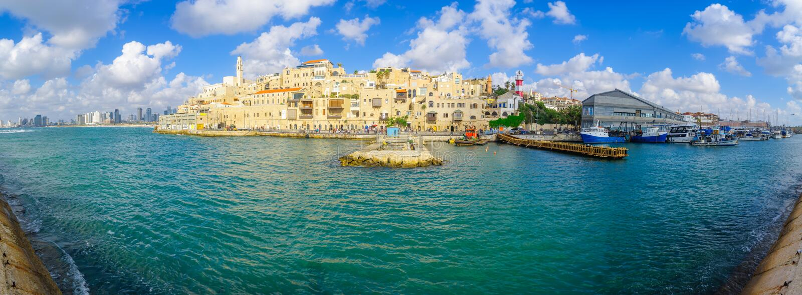 Jaffa port and of the old city of Jaffa royalty free stock photos