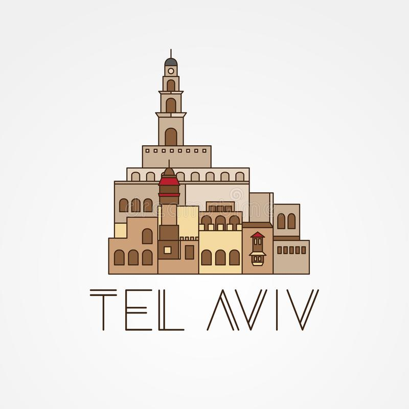 Jaffa Portr - The symbol of Tel Aviv, Israel. royalty free illustration