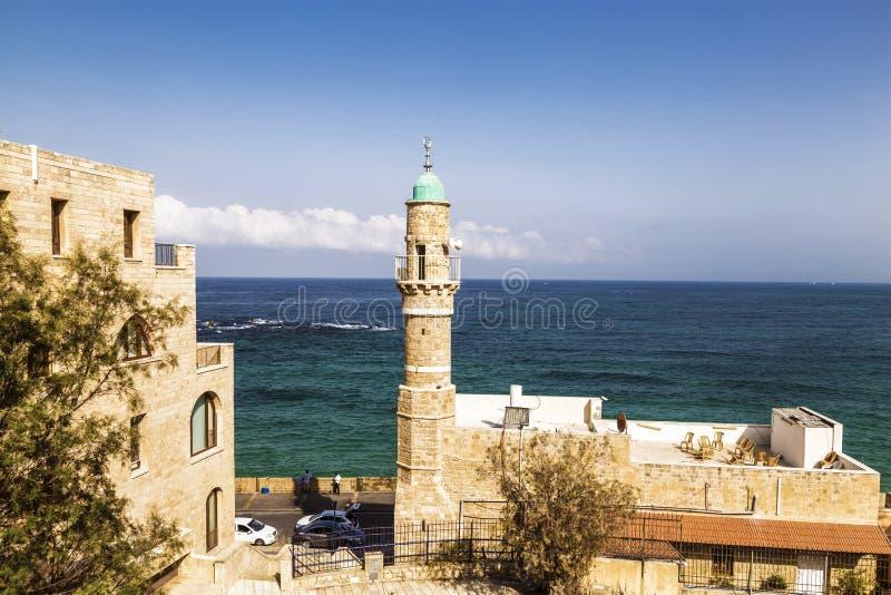 Jaffa-` s Seemoschee in Tel Aviv stockfotos
