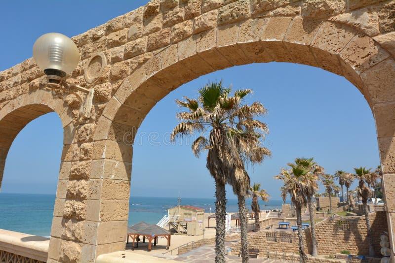Jaffa-Strand in Telefon Aviv Jaffa - Israel lizenzfreies stockfoto