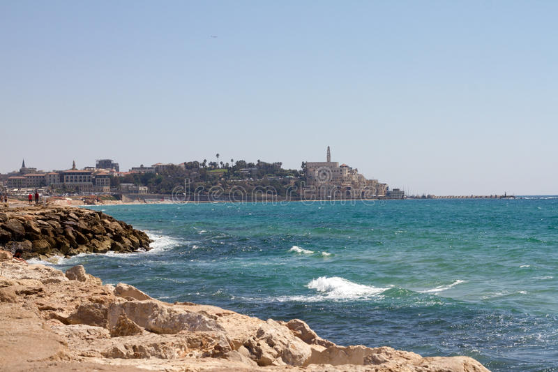 Jaffa Tel aviv in Israel and sea. Jaffa old Tel aviv in Israel and sea royalty free stock image