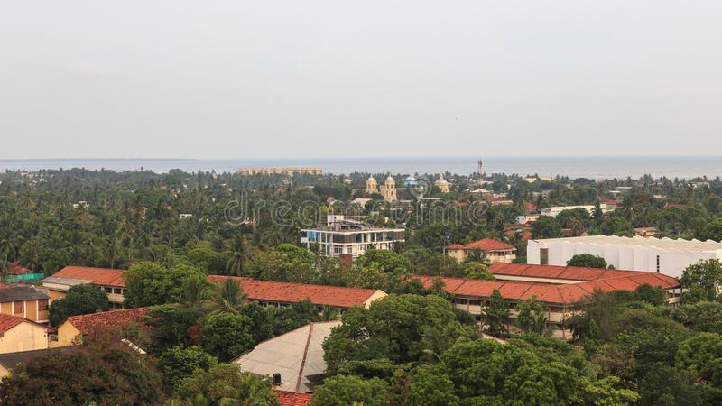 Aerial view of the city of Jaffna - Sri Lanka. Jaffna is the capital city of the Northern Province of Sri Lanka. The 1980s insurgent uprising led to extensive royalty free stock photos