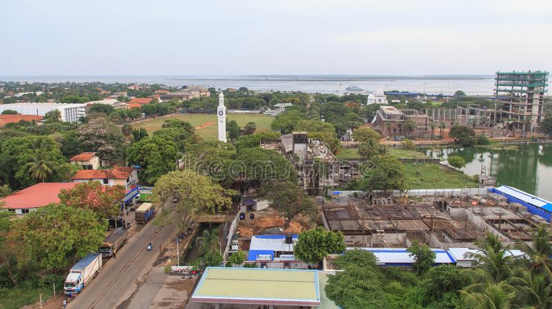 Aerial view of the city of Jaffna - Sri Lanka. Jaffna is the capital city of the Northern Province of Sri Lanka. The 1980s insurgent uprising led to extensive royalty free stock images