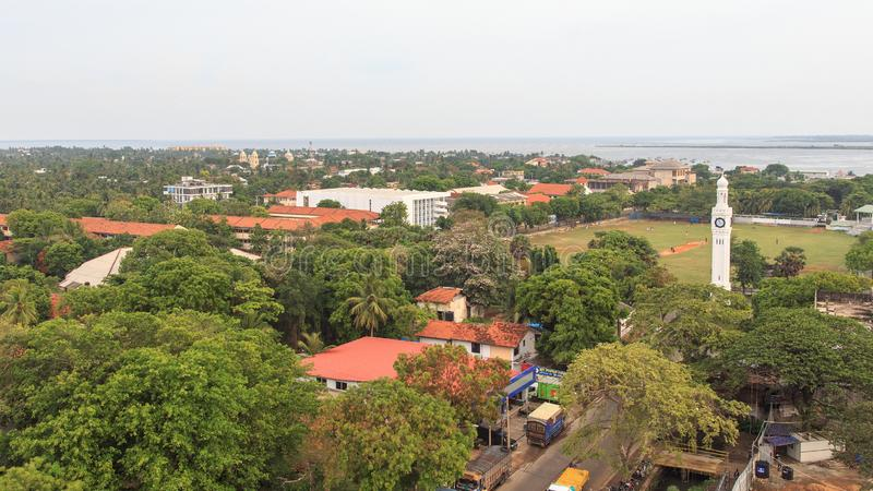 Aerial view of the city of Jaffna - Sri Lanka. Jaffna is the capital city of the Northern Province of Sri Lanka. The 1980s insurgent uprising led to extensive royalty free stock photo