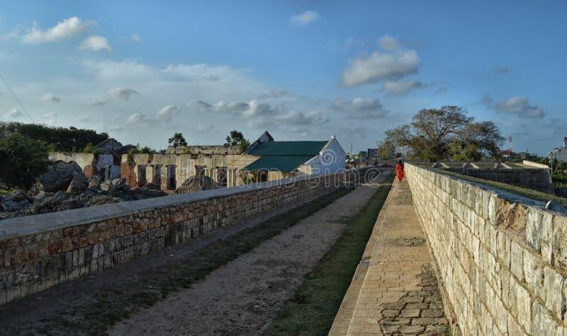Jaffna Fort Ramparts. Ramparts of Dutch Fort at Jaffna, Sri Lanka royalty free stock images