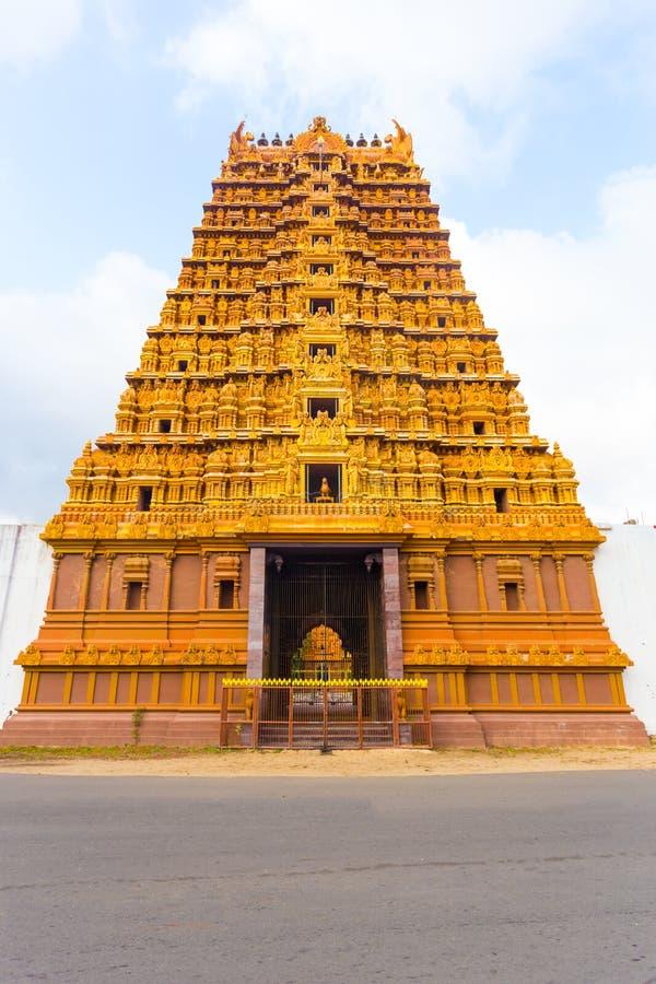 Jaffna Nallur Kandaswamy Gopuram Świątynny przód zdjęcie stock