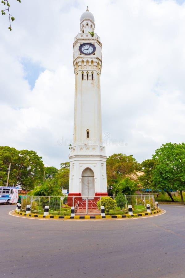 Jaffna Zegarowy wierza ronda twarz Sri Lanka zdjęcie stock
