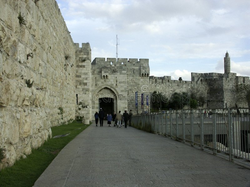 Jaffo gate stock images