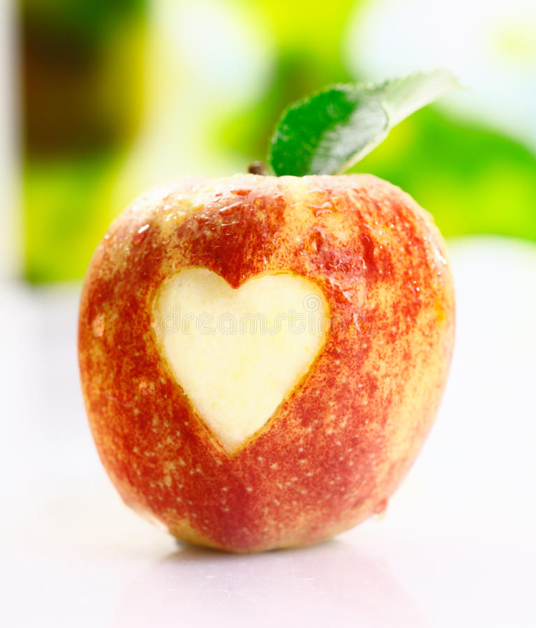 Jag älskar äpplen royaltyfri foto