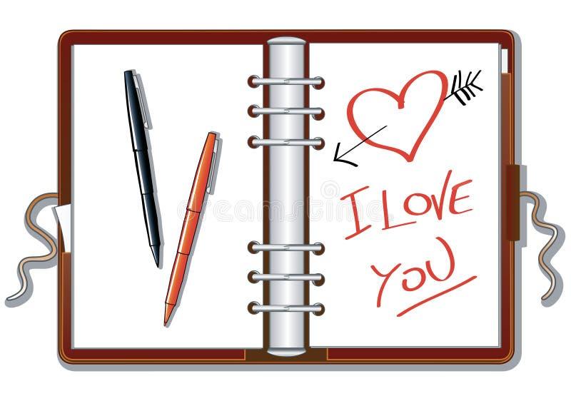 jag älskar dig stock illustrationer