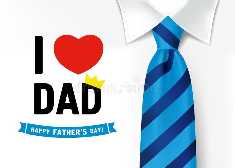 Jag älskar dig farsan, lyckliga faderns dag som märker bakgrund vektor illustrationer