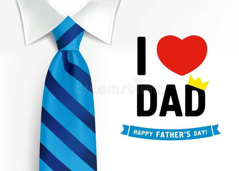 Jag älskar dig farsan, lyckliga faderns dag som märker bakgrund royaltyfri illustrationer