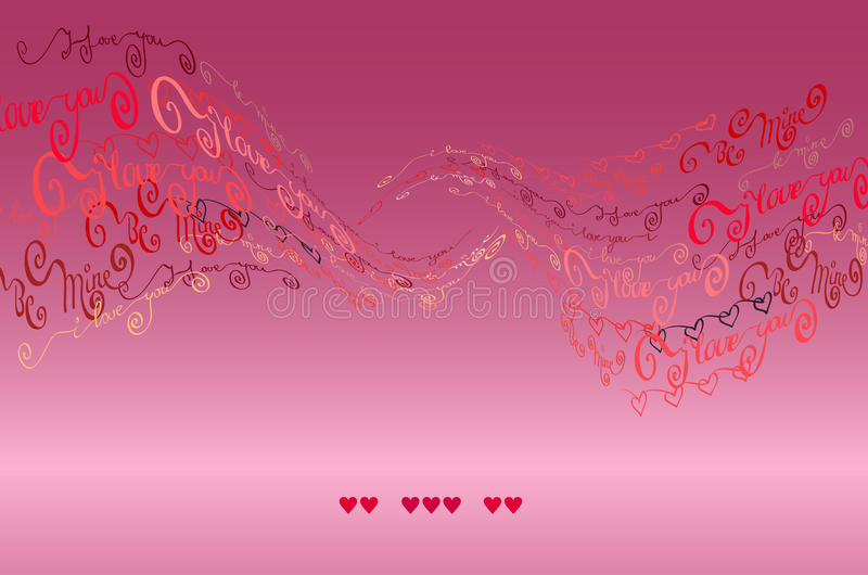 Jag älskar dig uttrycker bakgrund card min portfölj till valentinvälkomnandet vektor illustrationer