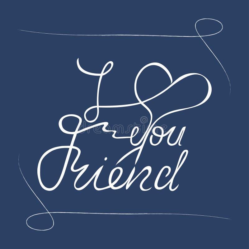 Jag älskar dig vänhandbokstäver greeting lyckligt nytt ?r f?r 2007 kort stock illustrationer