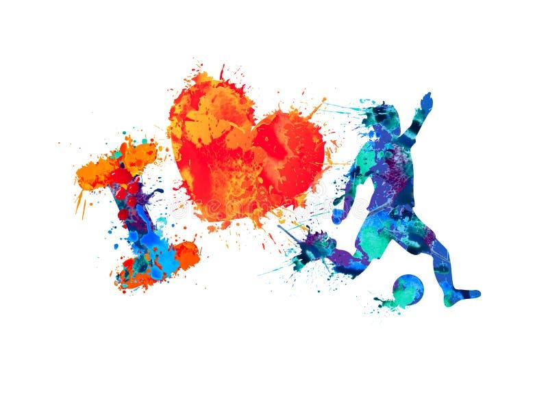 Jag älskar fotboll (fotboll) royaltyfri illustrationer