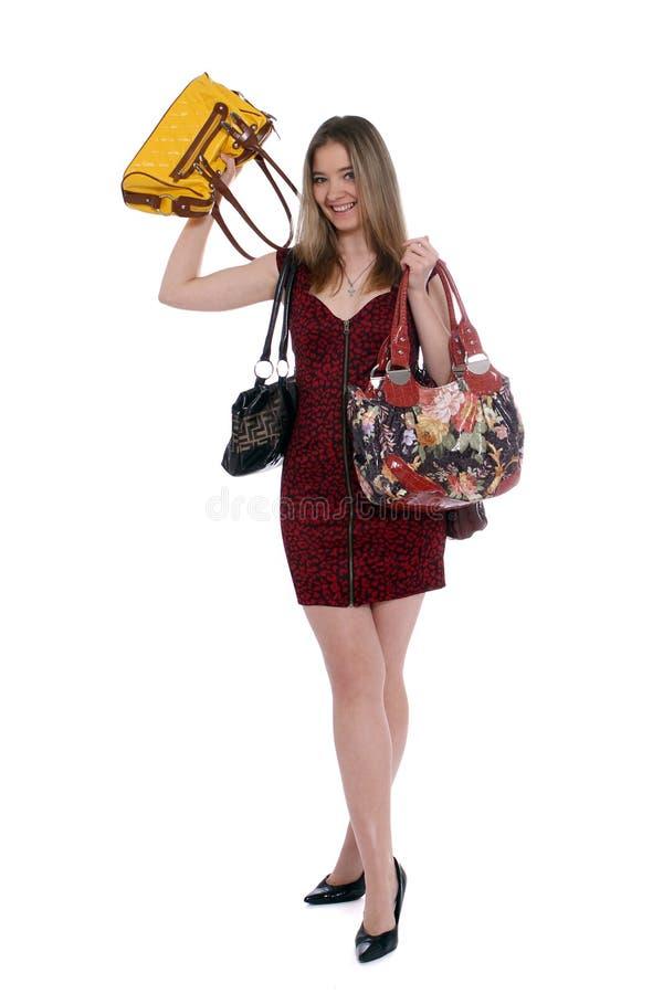 jag älskar handväskor arkivbild