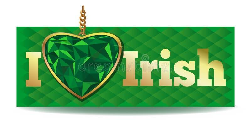 Jag älskar irländare vektor illustrationer