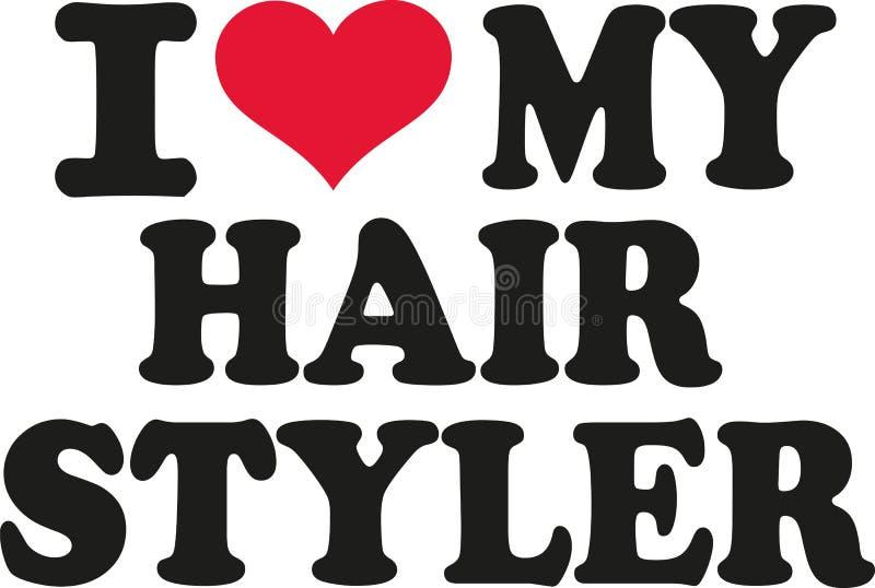 Jag älskar min hårstyler vektor illustrationer