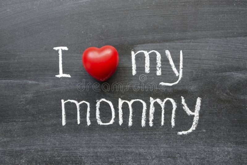 Älska min mommy royaltyfri foto