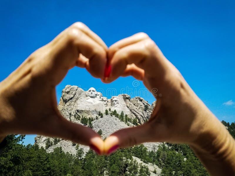 Jag älskar Mt rushmore royaltyfri foto