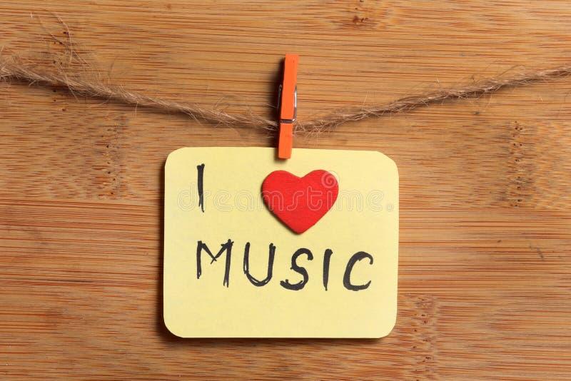 jag älskar musik royaltyfri foto