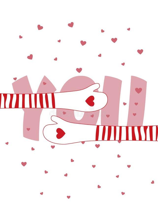 jag älskar mycket dig valentiner för kortdaghälsning Tryck för t-shirt kramar stock illustrationer