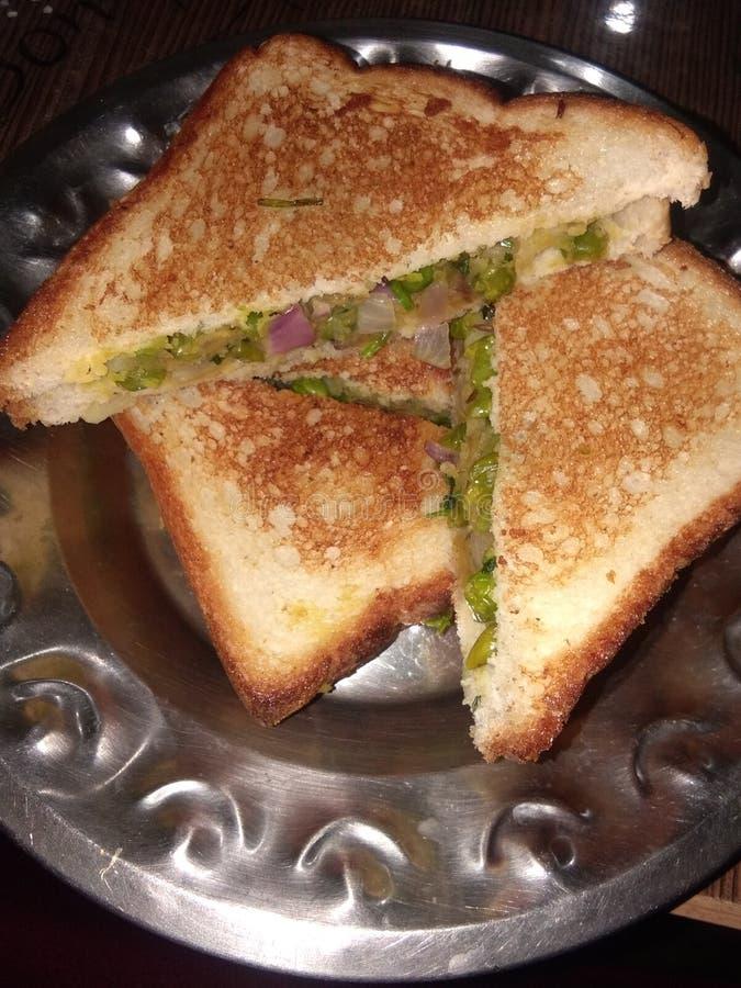 Jag älskar smörgåsen Potatissmörgås royaltyfri foto
