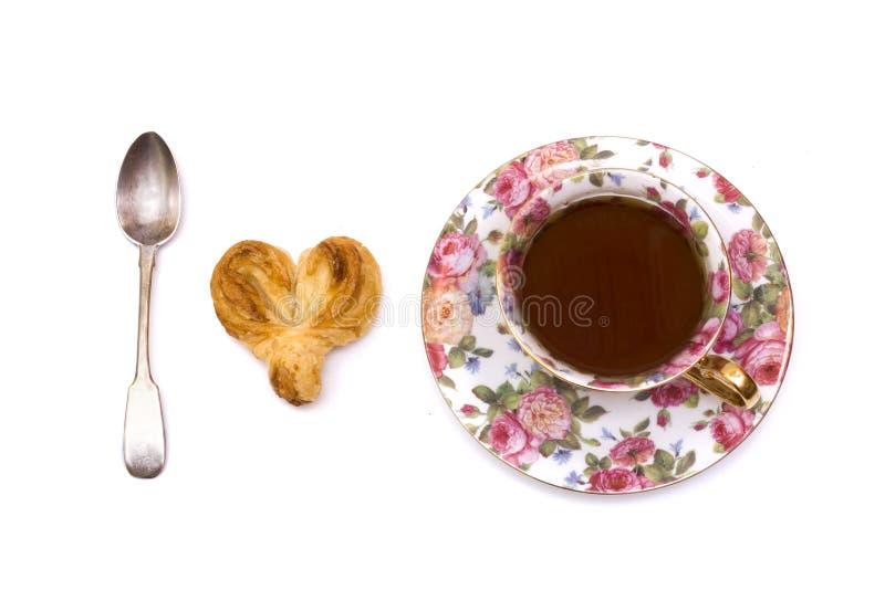 jag älskar tea arkivbild