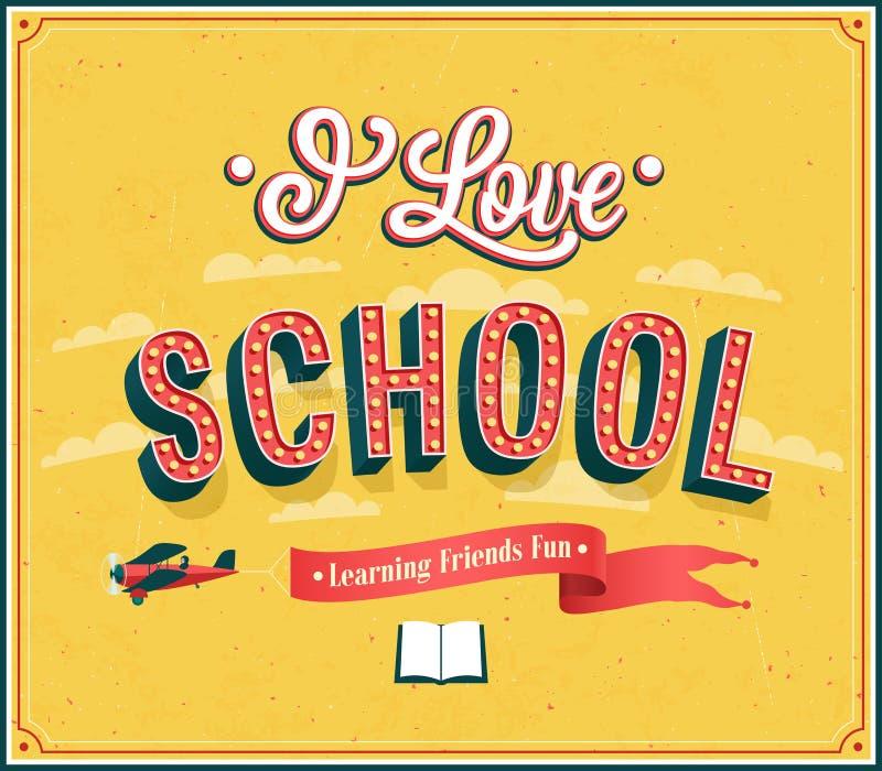 Jag älskar typografisk design för skola stock illustrationer