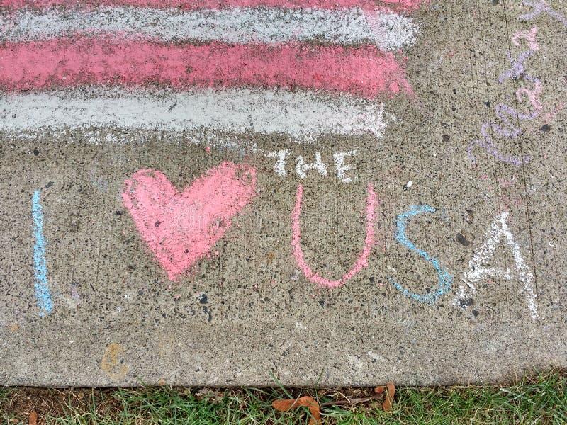 Jag älskar USA, I-hjärta USA royaltyfri fotografi
