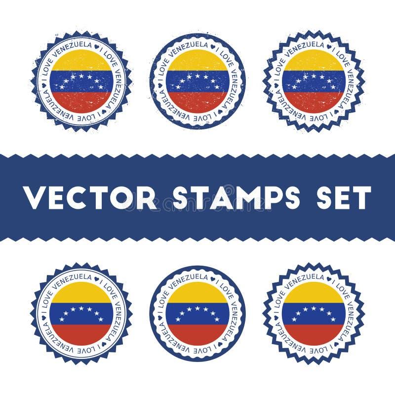 Jag älskar Venezuela, den Bolivarian republiken av vektorn stock illustrationer