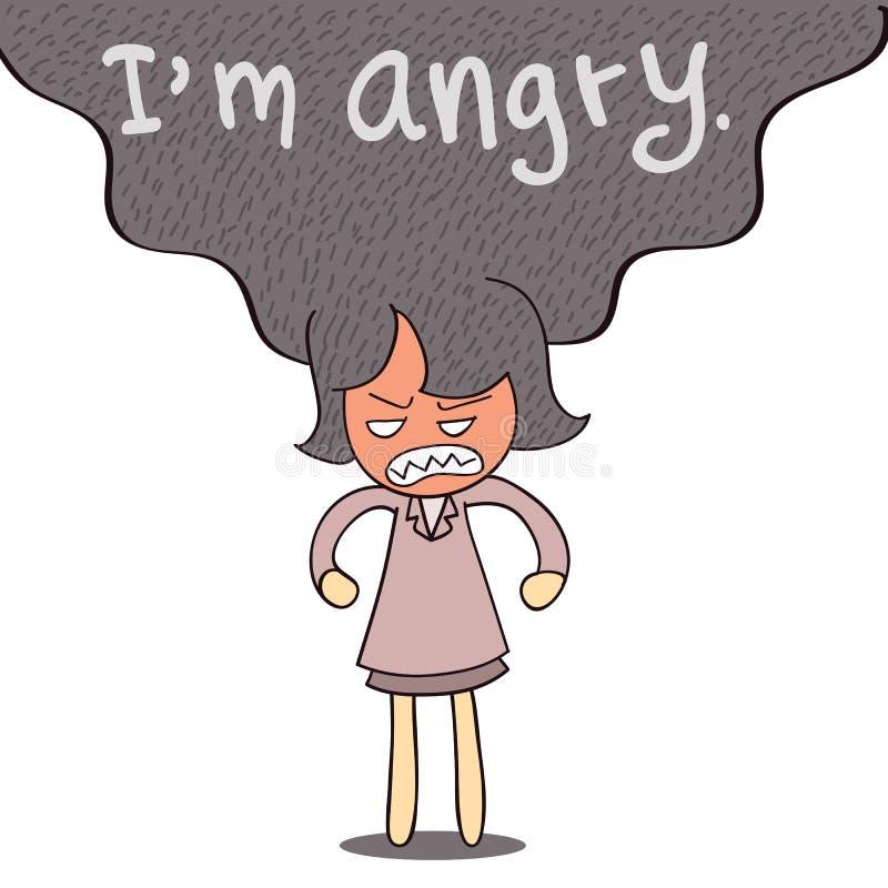 Jag är ilsken stock illustrationer