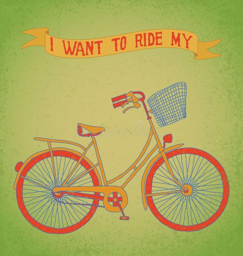 Jag önskar att rida min cykel royaltyfri bild